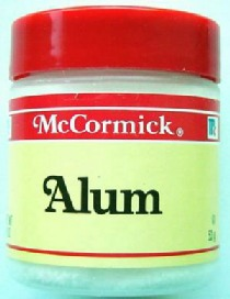 Tiny jar of alum.